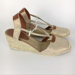 Ralph Lauren Cala Linen Espadrille Wedges Size 8.5
